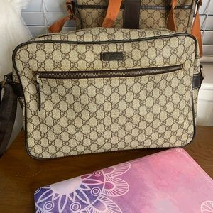 Gucci PVC messenger bag (Vintages)